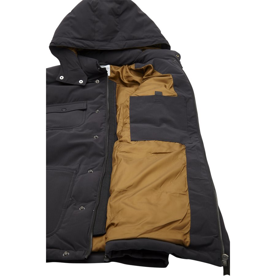 ALPINE COAT I023081. - Alpine Coat - Jakker - Regular - BLK/HAM. BROWN - 5